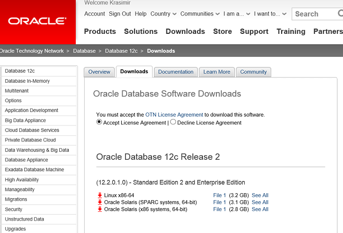 Oracle Database 12c Release 2 (12.2) - just arrived in the official Oracle site