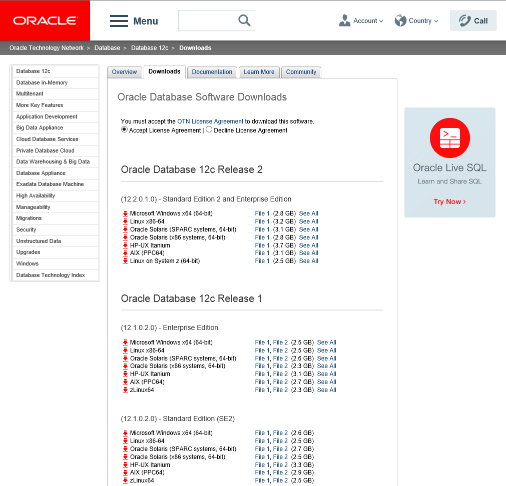 Oracle Database 12c Release 2 Enterprise Edition - Software installation ( Oracle Home ) and CDB with PDB Creation in silent mode
