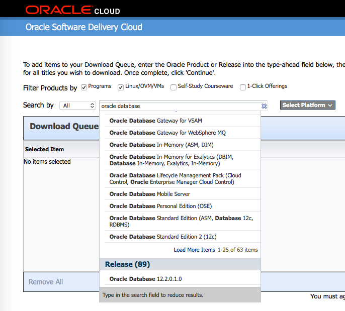 How to download Oracle 12c Standard Edition - 12.1.0.2 and 12.2.0.1