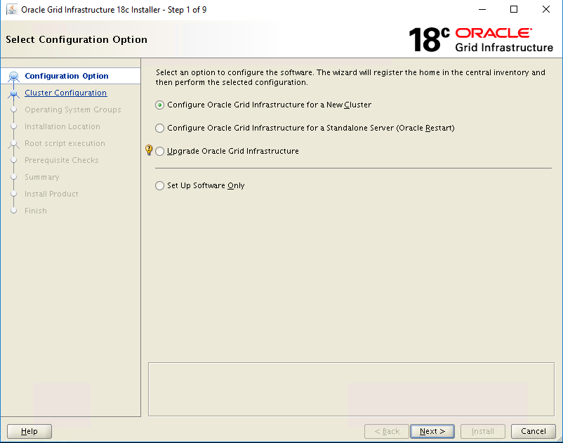 Oracle Grid Infrastructure 18c installation and patching on Linux