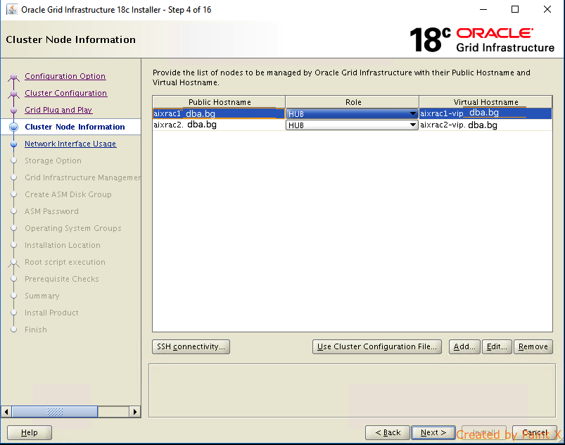 Oracle Grid Infrastructure 18c installation and patching on